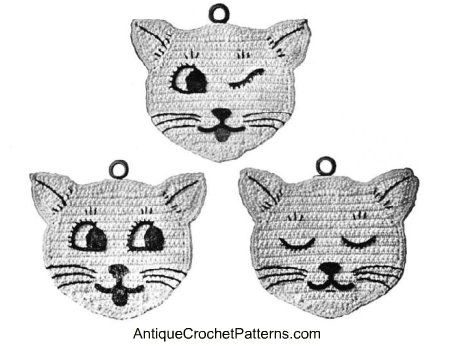 Free Crochet Potholder Patterns for Cats: How to Crochet a Potholder