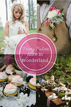 Alice in Wonderland Wedding Palette : Pretty Palettes By The DIY Wedding Planner On the #1 DIY wedding website www.howtodiywedding.com #aliceinwonderland  fairy tale wedding colors