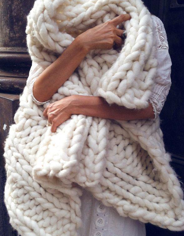 Chunky Knit Merino Throw