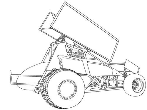 Sprint Car Coloring Pictures Coloring Pages