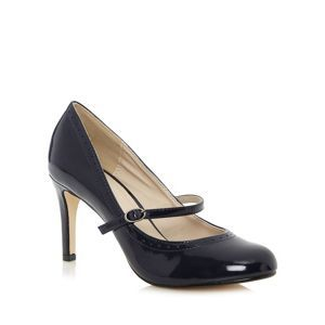 The Collection Navy brogue pattern court shoes- at Debenhams Mobile