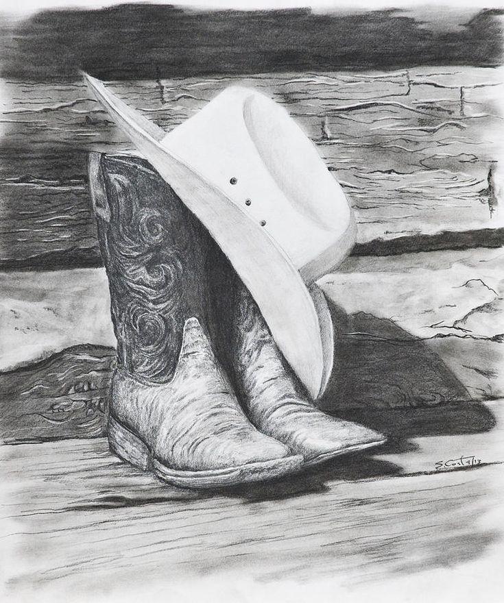 pencil drawings cowboy - Google Search