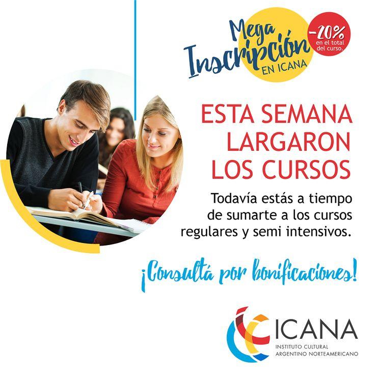 ¡Ya comenzaron los cursos! Todavía estás a tiempo de inscribirte. Conocé tu nivel de inglés en este link: http://www.icana.org.ar/new_placement/index.php