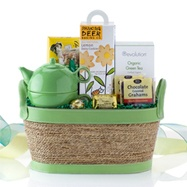 Tea Cozy - an assortment of great snacks, a colorful teapot and big box of Revolution Tea. $54.99