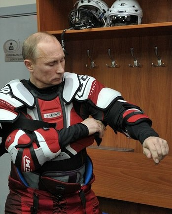 President Vladimir Putin Suits Up For A Game Of Ice Hockey