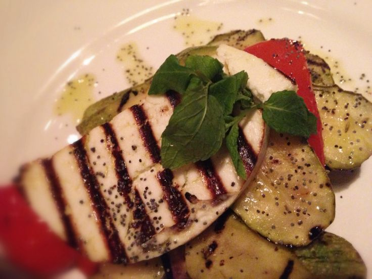 Traditional #greek #manouri #cheese #grilled veggies and #extravirgin #oliveoil! #prosopa #restaurant #athens #gazi #healthyanddelicious #realgreek #food #yum! #blueoliveoil #evoo #extravirginoliveoil #crete #greece #healthyliving #healthyeating #greekoil #greekproducts photo by @locccations www.blueoliveoil.com