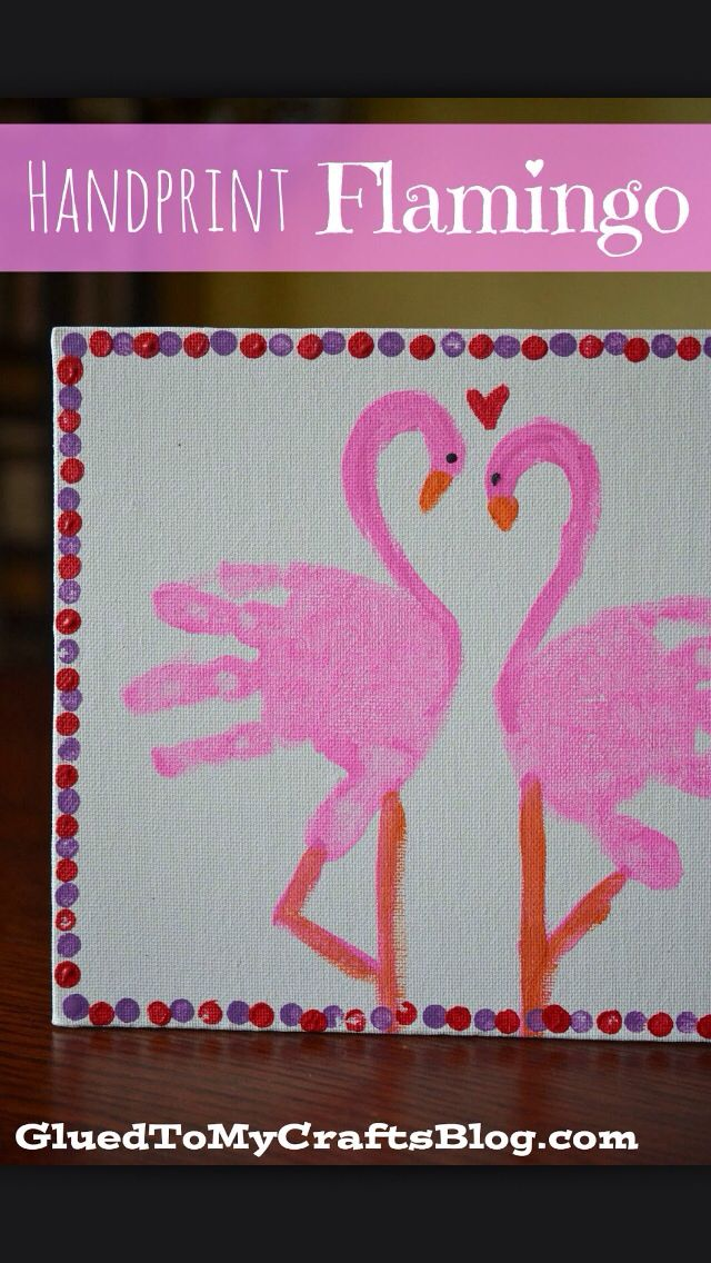 Flamingo handprints