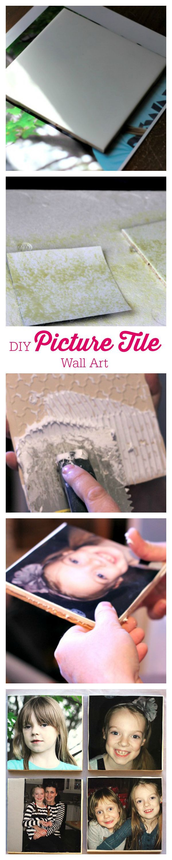 DIY Picture Tile Wall Art - Decorate your home with this simple step-by-step tutorial!