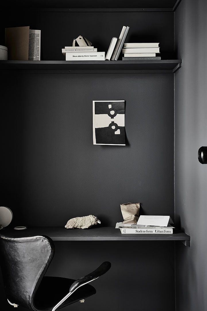 White home with black accents - via cocolapindesign.com