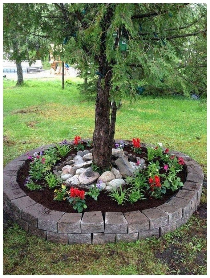 48 Simple Easy And Cheap Diy Garden Landscaping Ideas Landscaping Backyard Frontyard Landscaping Around Trees Backyard Landscaping Front Yard Landscaping