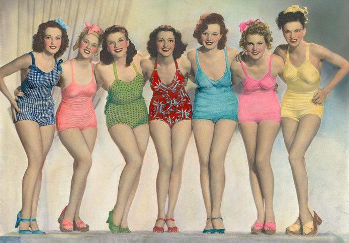 1940s Bathing Costumes - in Technicolour!