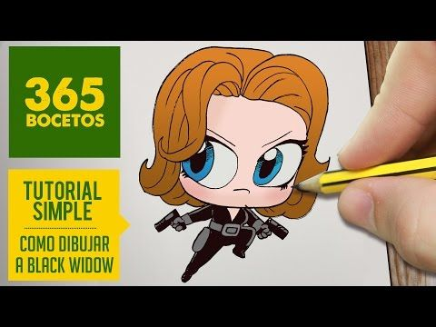 (13) COMO DIBUJAR VIUDA NEGRA KAWAII PASO A PASO - Kawaii facil - How to draw Viuda negra - YouTube