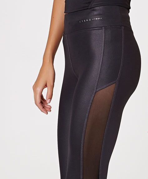 Cropped leggings with side mesh detail - OYSHO. #fitgirlcode #fashion #style