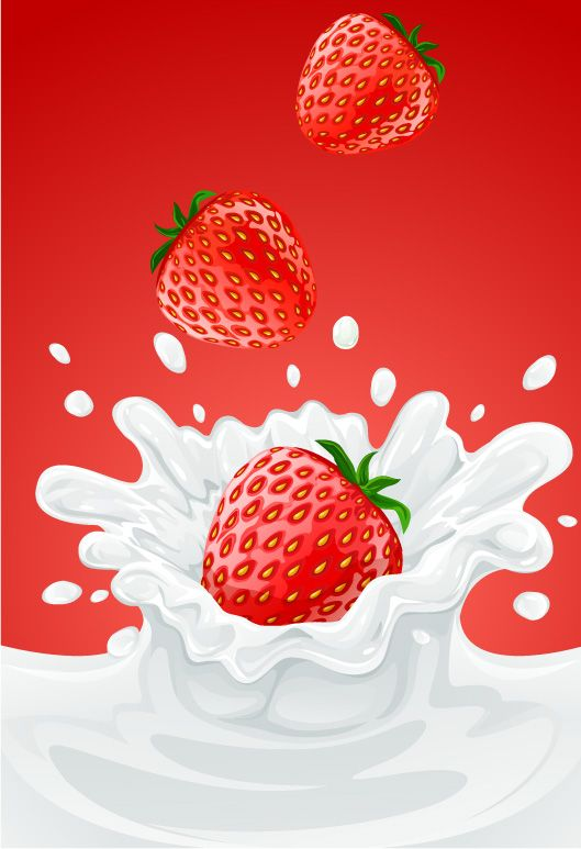 free vector 5 fruit and milk moment vector fall graphic available for free download at 4vector.com. Check out our collection of more than 180k free vector graphics for your designs. #design #freebies #vector