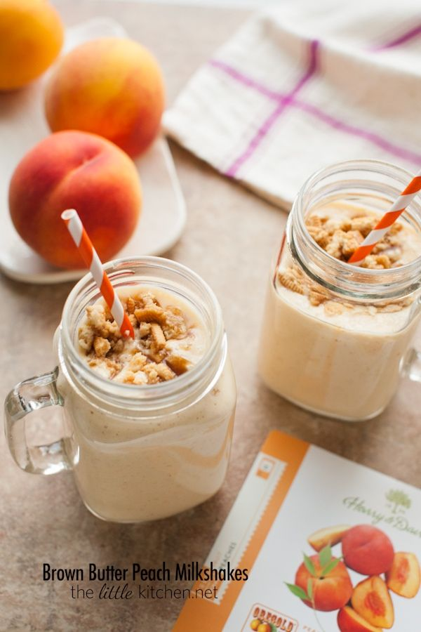 Brown Butter Peach Milkshakes by Bobby Flay