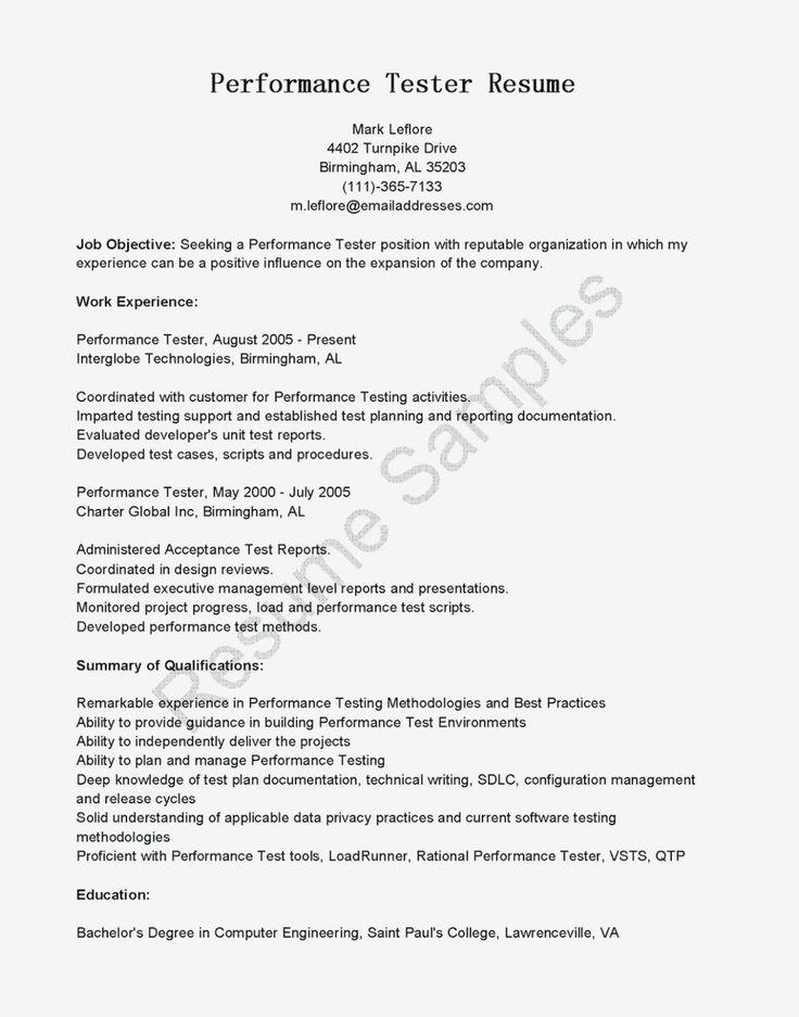 Qa Tester Resume No Experience original Qa Test Engineer