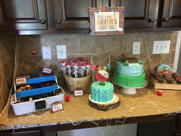 Gone fishing theme -bobbers cake pops