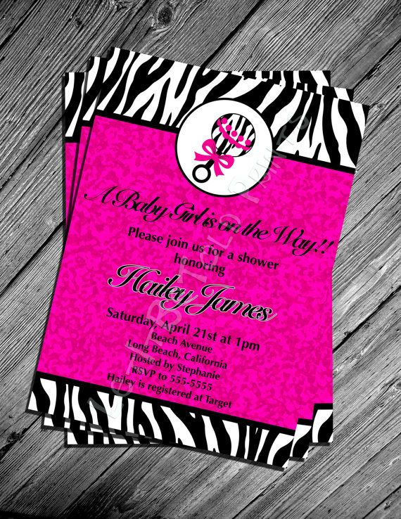 best printable party images on   printable party, Baby shower invitation
