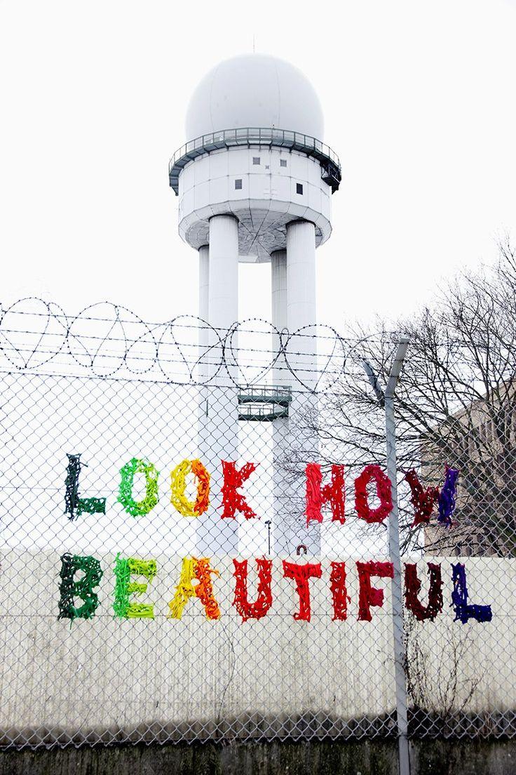 Artists: Lisa F. & Philipp E.  City: Berlin, Flughafen Tempelhof    Found via StreetArt in Germany