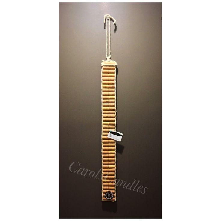 Long wine cork pin board. Recycled wine corks. @carolscorks