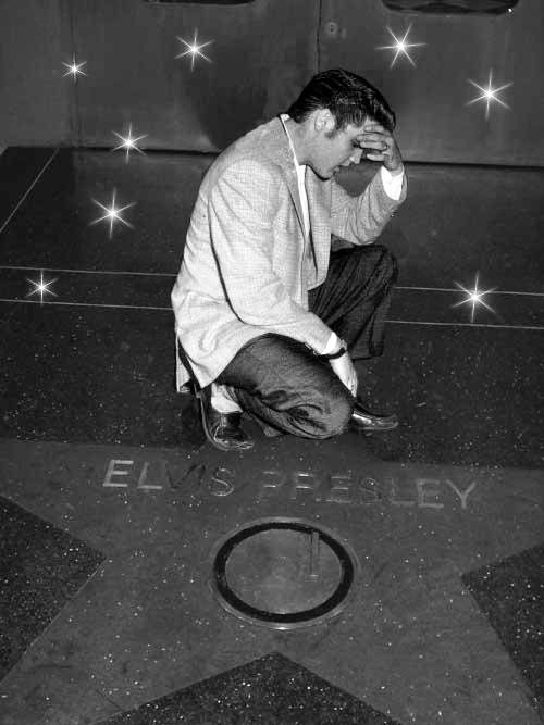 Elvis' Hollywood Walk of Fame Star was awarded to him on February 9, 1960. Elvis was one of the first eight performers that were honored after construction of the walk was completed.