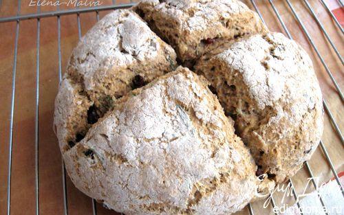 Ирландский содовый хлеб с розмарином и клюквой                    Кулинарные рецепты от «Едим дома!»