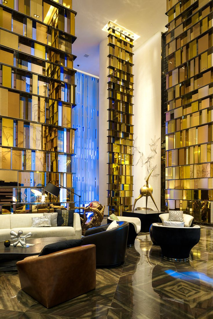 3d rendering luxury hotel lobby china luxury china hotel lobby - W Guangzhou Hotel Residences China By Rocco Design Architects Limited The Living Room Interior Designed By Yabu Pushelberg