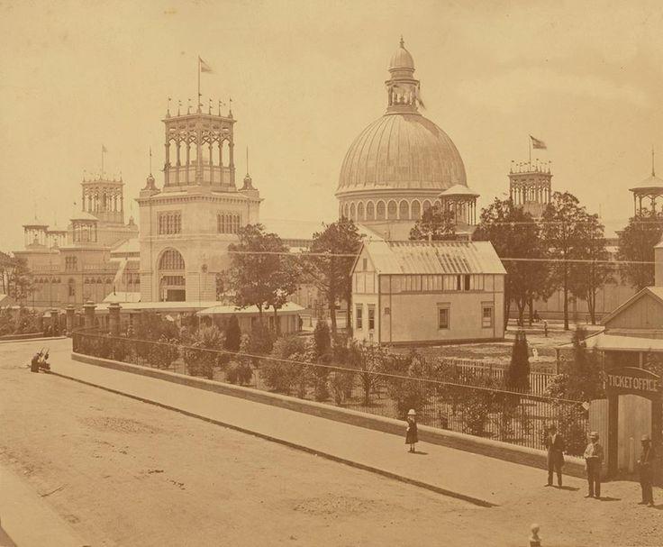 "Garden Palace, Macquarie Street, Exhibition Building, Sydney, 1879, burnt down 1882 ... c.1879 ... ""Rev W.B. Clarke's specimens were destroyed"" on reverse"