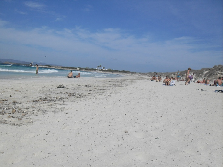 Beach in front of the island of rabbits in Formentera