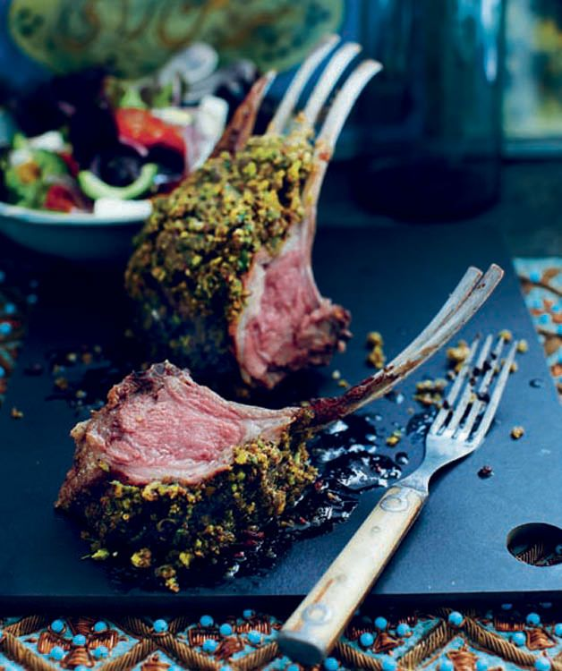 Herb and pistachio crusted rack of lamb