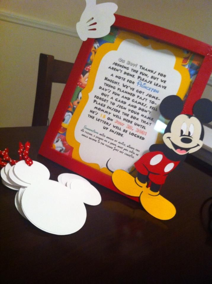 Mickey Mouse Clubhouse Time Capsule.