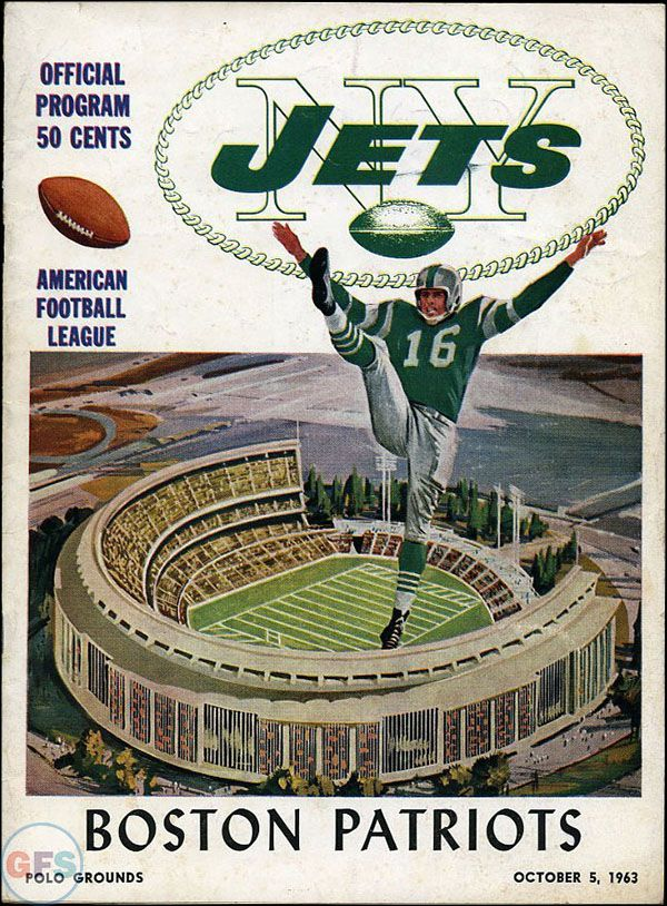 AFL Game Program: New York Jets vs. Boston Patriots (October 5, 1963)
