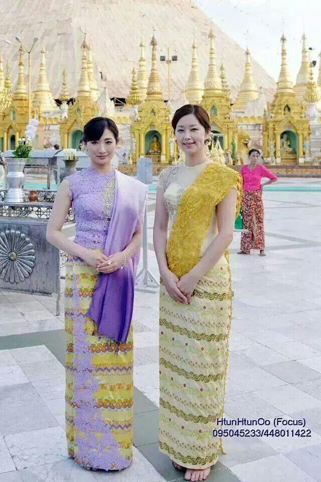 Japanese actresses in Myanmar dresses www.odysseymyanmar.com