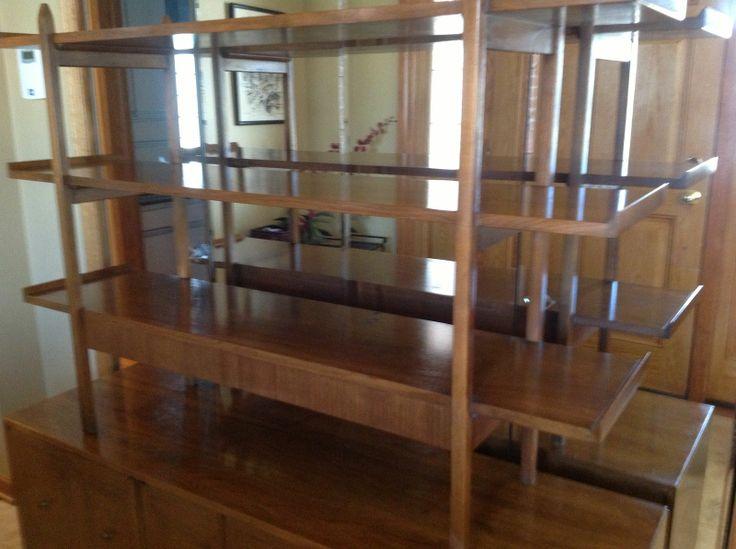 Mid Century Modern American Of Martinsville Sideboard Credenza Shelves Room Dividerscredenzachina