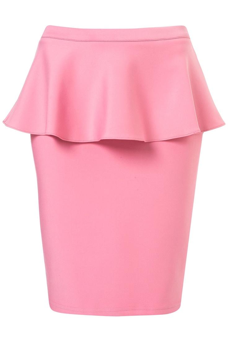 pretty pink peplum: Pink Peplum, Peplum Westcoastcool, Scubas Pink, Scubas Peplum, Pencil Skirts, Topshop Scubas, Peplum Pencil, Fashion Style Trends, Peplum Skirts