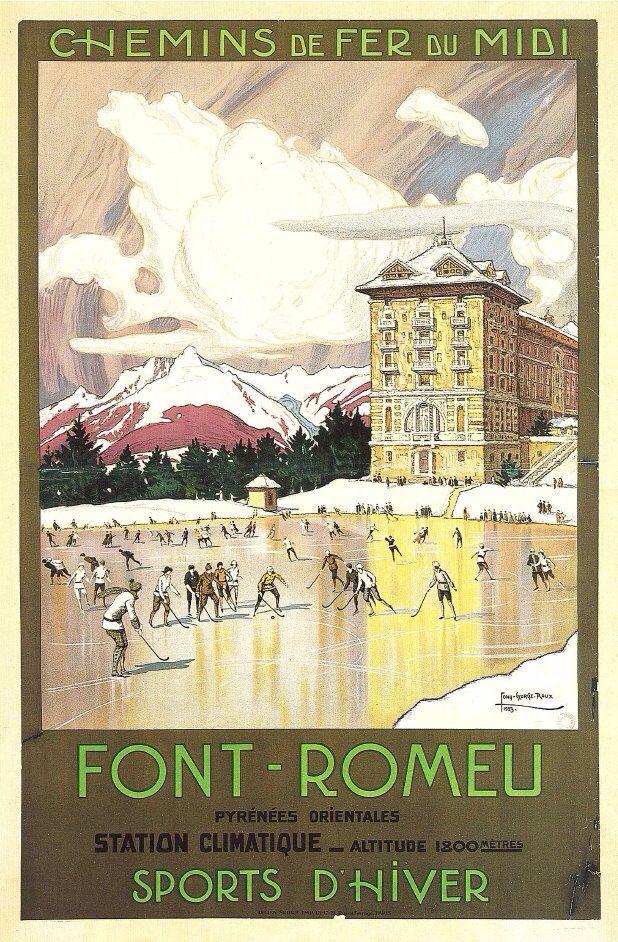 1000 images about affiches chemin de fer on pinterest for Piscine font romeu