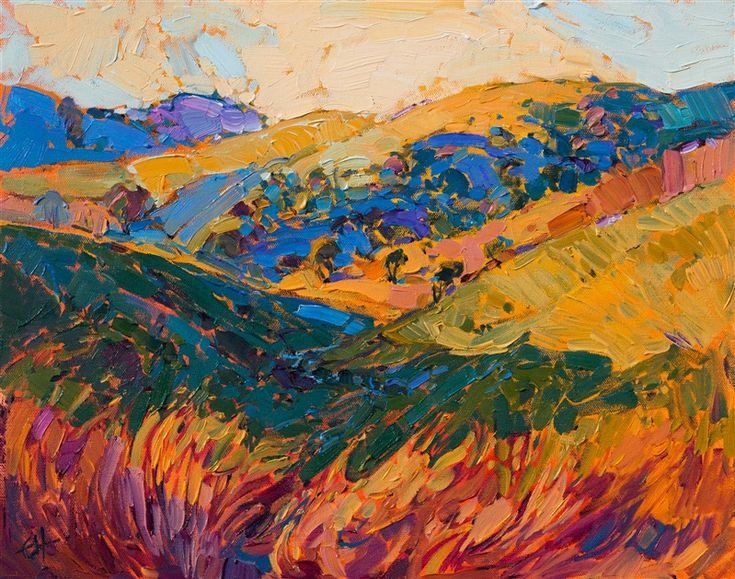 Modern impressionism oil painting 16x20 by Erin Hanson.