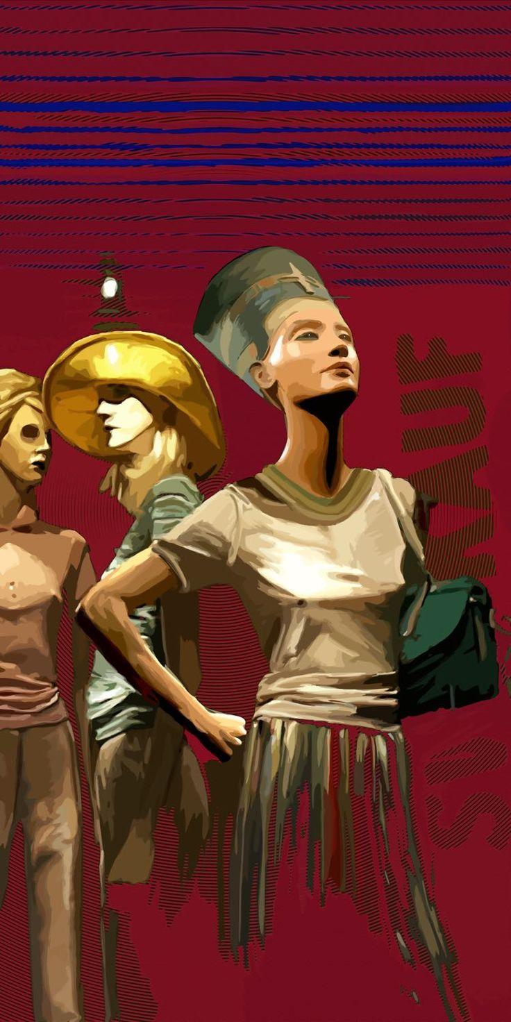 Egyptian princess reincarnates ... Nefertiti's window dressing!