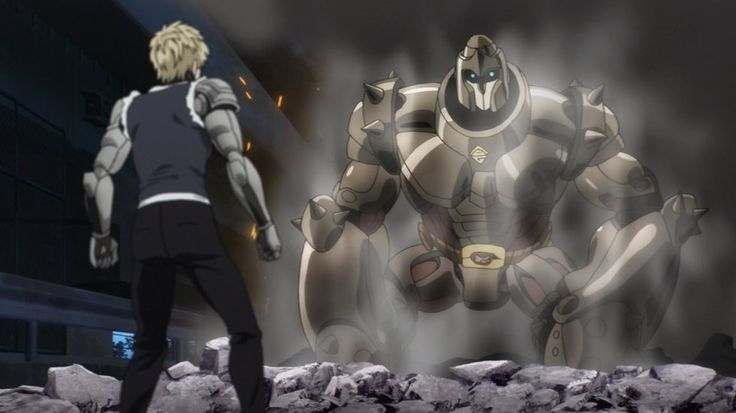 ONE PUNCH MAN, Villain, Armored Gorilla (アーマードゴリラ Āmādogorira) is an artificial mutant created by Dr. Genus of the House of Evolution. Unlike his peers, Armored Gorilla's body is mostly robotic, making him the third-strongest specimen in the House of Evolution, and its only battle cyborg, Episode 2 http://onepunchman.wikia.com/wiki/Armored_Gorilla