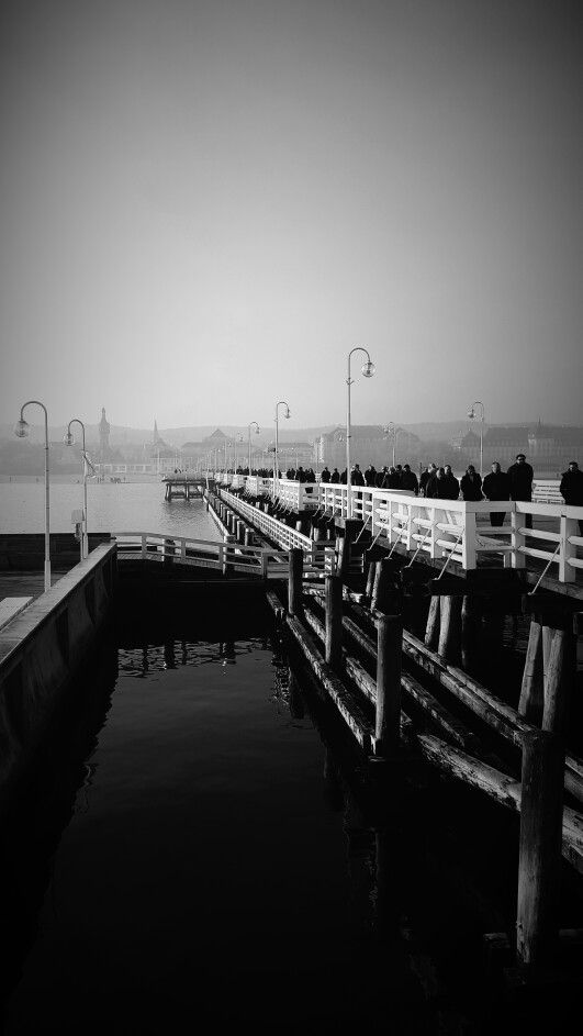 Sopot jetty in one if the warmest November in the history
