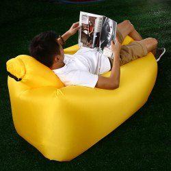 Portable inflável Lazy sofá cadeira de praia com travesseiro para esportes ao ar livre