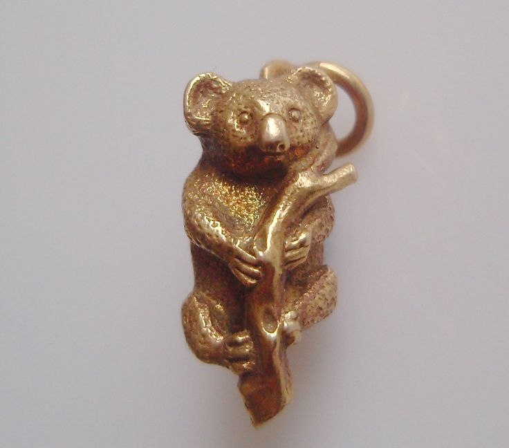 9ct Gold Koala Charm or Pendant by TrueVintageCharms on Etsy