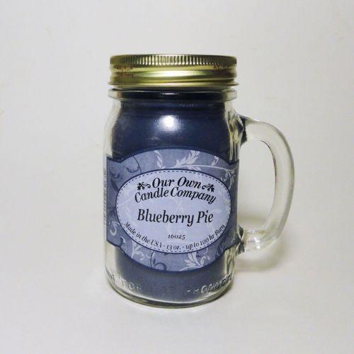 Blueberry Pie 13 oz. Glass Mug with Handle Mason Jar Scented Candle ...