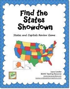 Best States Games And Activities Images On Pinterest - United states map with capitals and state names