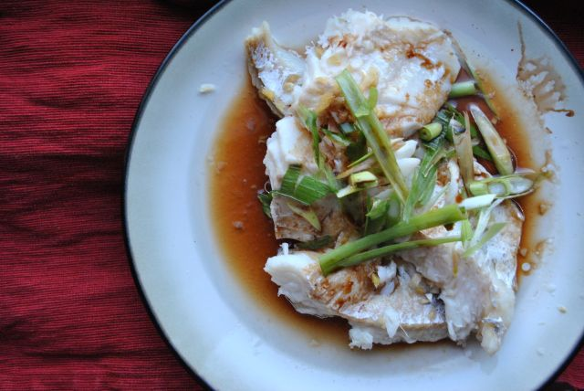 steamed fish w ginger and scallions | Cooking | Pinterest