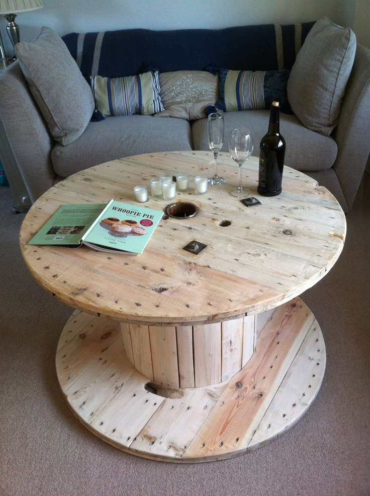 1000 images about wooden spool furniture on pinterest for Cable reel table