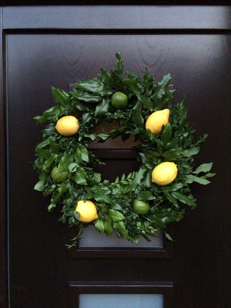 My summer holiday wreath