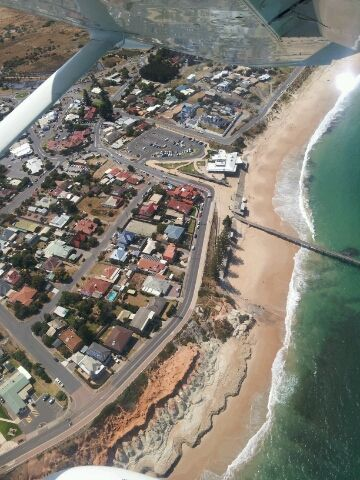 Aerial View Port Noarlunga Beach and Reef