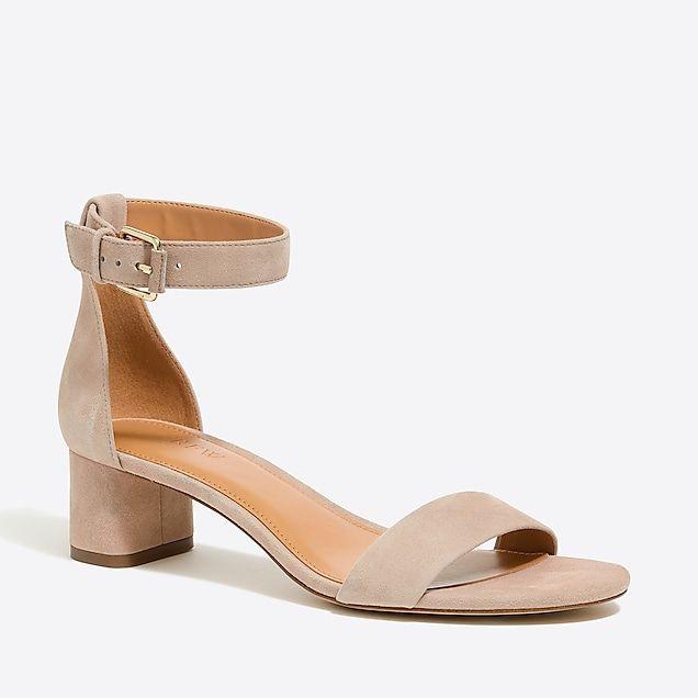 c79cbfdfd03 suede block heel sandals   factorywomen occasion