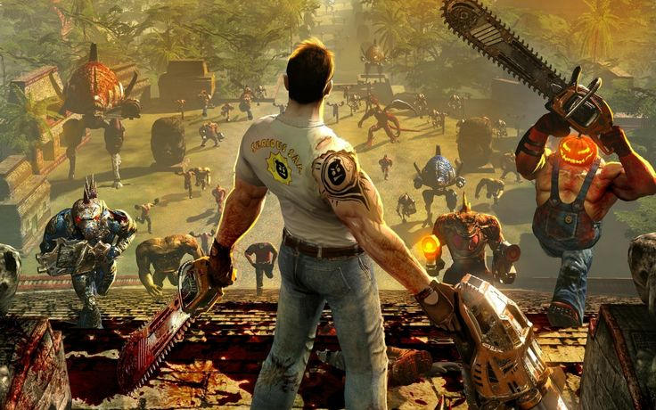 Serious Sam from back